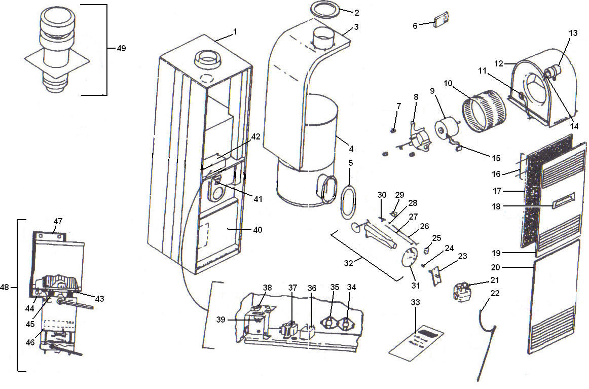 coleman 7975 furnace wiring diagram coleman heaters wiring
